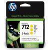 HP 712 Geel 29ml 3 pack - 3ED79A