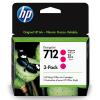 HP 712 Magenta 29ml 3 pack - 3ED78A