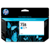 HP 728 - 130 ml Cyaan inkt cartridge - F9J67A