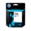 HP 728 - 40 ml Cyaan Inkt Cartridge - F9J63A