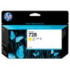HP 728 - 130 ml Geel inkt cartridge - F9J65A