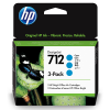 HP 712 Cyaan 29ml 3 pack - 3ED77A